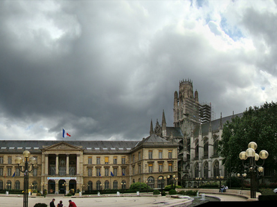 City Hall And Church Of St. Ouen