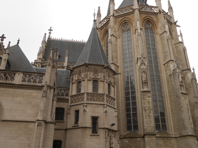 Notre Dame Du Sablon Closeup