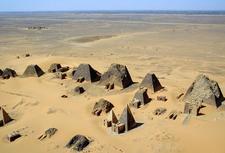 Nubian Pyramids Arial View - Nubia - Sudan
