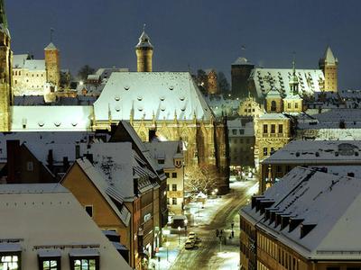 St. Sebaldus Church And Nuremberg Castle