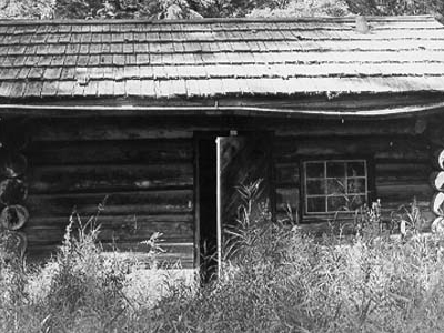 Nyack Ranger Station Historic Fire Cache - Glacier - USA