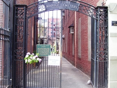 New York Marble Cemetery Entrance