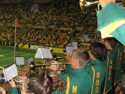 NDSU Band Plays In The Stands