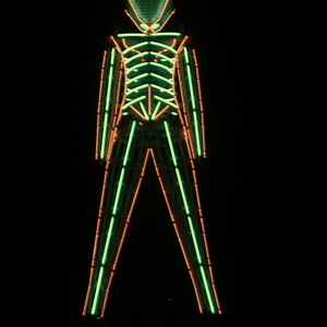 The Neon-Tubed Man At The 1999 Event