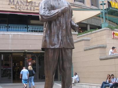 Statue At Nelson Mandela Square