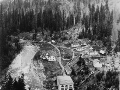 Nooksack  Falls  Hydroelectric  Plant  Aerial  View