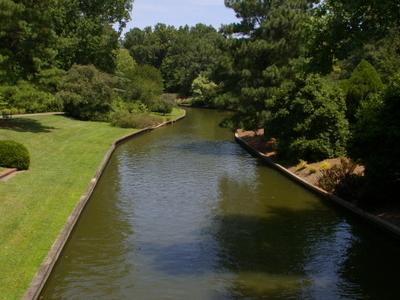 Canal In Norfolk Botanical Garden
