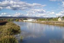 North Esk River From A Bridge In Launceston