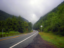 Northern Approach To Notch In Gloomy Weather