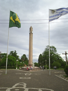 Obelisk Of The Plaza Internacional At The Quotfrontera De La Paz