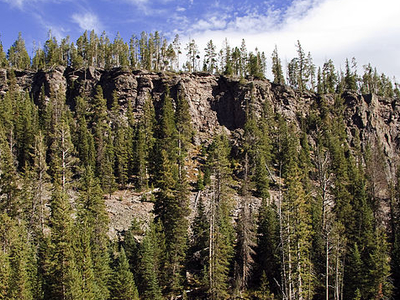 Obsidian Cliff At Yellowstone - Wyoming - USA