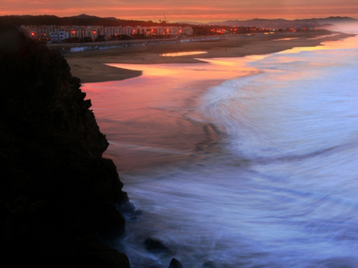 Ocean Beach At Sunrise