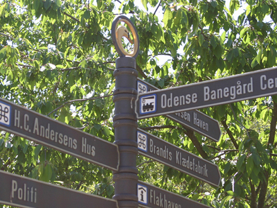 Sign Post In Odense