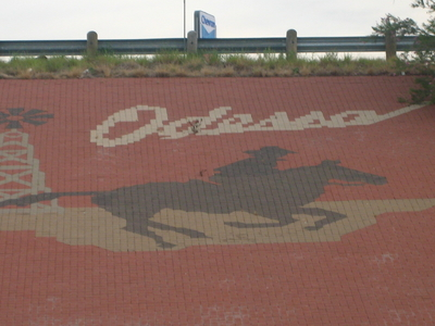 Odessa Welcome Sign Along Interstate 20