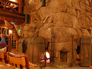 Old Faithful Inn Fireplace