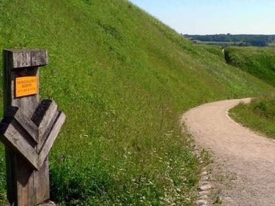 Old Hillfort Mounds Near Kernav