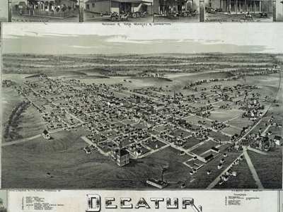 Old Map   Decatur   1 8 9 0