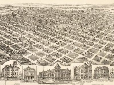 Old Map   Denison   1 8 9 1