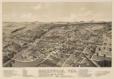 Old Map Greenville 1 8 8 6