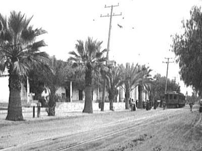 Old  P E Car At San Gabriel  Mission Circa