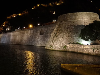 Old Town Walls And Architecture At Night