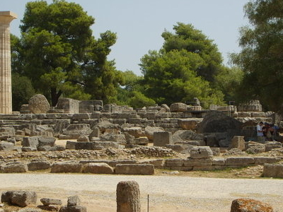 Ruins Of The Temple Of Zeus