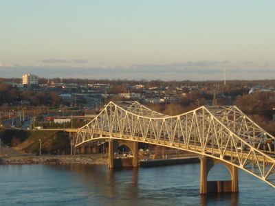 Oneal Bridge And The Tennessee River With The Florence Skyline I