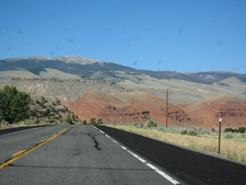 Open Road Through Big Horn Mountains