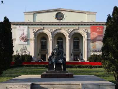 George Enescu Statue In Front Of The Opera