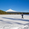 OR Frozen Trillium Lake With Mt. Hood