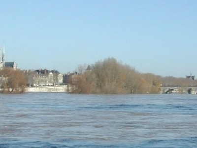 Loire Bursting Its Banks At Orleans