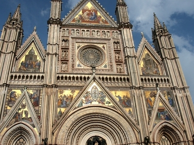 Facade Of The Orvieto Cathedral