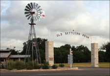 Entrance To Old Settlers Association Facilities.