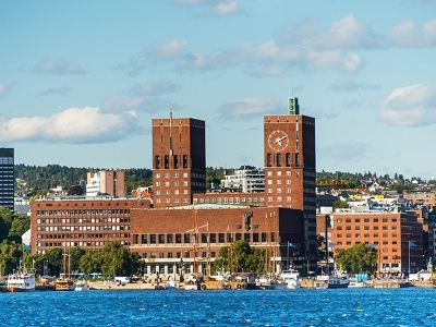 Oslo City Hall From Sea