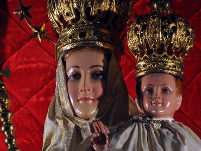 Our Lady Of Vailankanni, A Statue In The Crypt Of Basilique Notre-Dame De Fourvière, Lyon, France