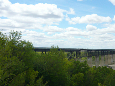 Former Railroad Bridge Skytrail Bridge
