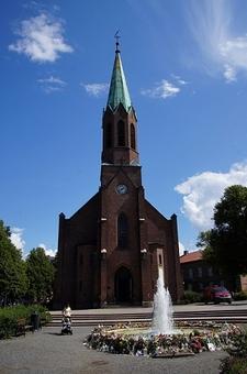 Outside Church In Norway