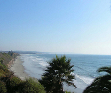 Overlooking Swami's Park Beach