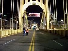 Over Roberto Clemente Bridge - Pittsburgh PA