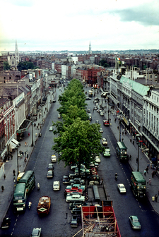 Upper O'Connell Street And Its Tree Lined Median