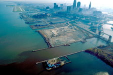 Aerial View Of Port Of Cleveland