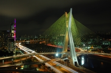 Octávio Frias De Oliveira Bridge At Night