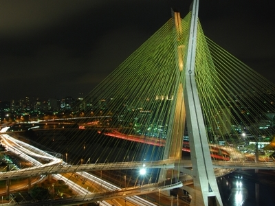 Octávio Frias De Oliveira Bridge At Night