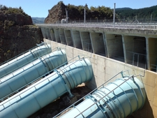 Ohakuri Dam Blue Penstocks
