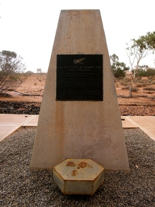 Monument At The Discovery Hole Of Olympic Dam