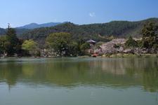The Osawa Pond With Daikaku-ji Temple