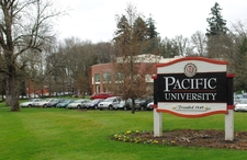 Pacific University Entrance Sign
