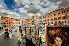 Paintings Exhibits At Piazza Navona