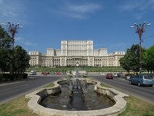 Palace Of The Parliament - Bucharest - View From Fountain