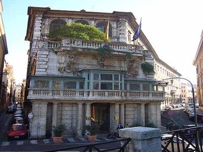 Flaminio Ponzo's Rear Façade Of Palazzo Borghese